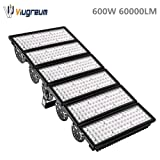 Viugreum 600W LED Flood Lights Outdoor, 60000 Lumen Daylight White 6000K (3000W Equivalent), 60°Beam Angle LED Spot Lights, IP67 Waterproof Stadium Light, Security Work Lights, Fast Shipping from USA (Color: 600w Daylight White)