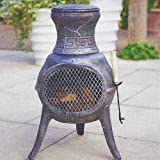 CAST IRON CHIMENEA. BRONZE COLOUR. GARDEN FIREPIT. WOOD BURNER. HEATER. BBQ.