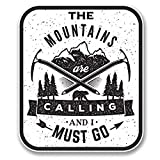 Mountains are Calling Vinyl Decals Stickers (TWO PACK!!!)|Cars Trucks Vans Walls Laptops|Printed Color|2-4 in decals|KCD572