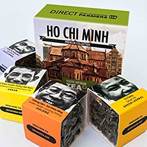 TEA from FARMERS, 4 Loose leaf teas gift set, Ho Chi Minh, South Vietnam
