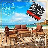 6 Piece Teak Patio Furniture Set - the Luxurious Monaco Model, Outdoor Garden Conversation Collection with Sunbrella Cushions