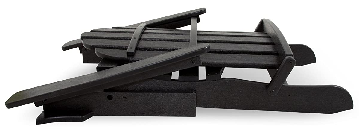 Trex Outdoor Furniture Cape Cod Folding Adirondack Chair, Charcoal Black