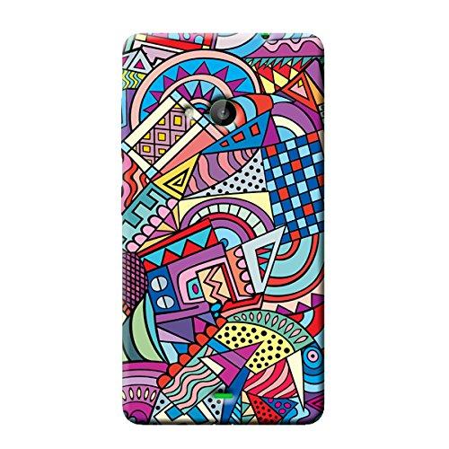 Garmor Retro Design Plastic Back Cover For Nokia Lumia 535 (pattern 1)