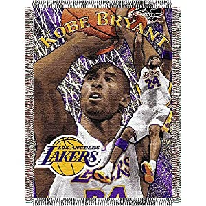 NBA Player Woven Throw Blanket NBA Team: Kobe Bryant