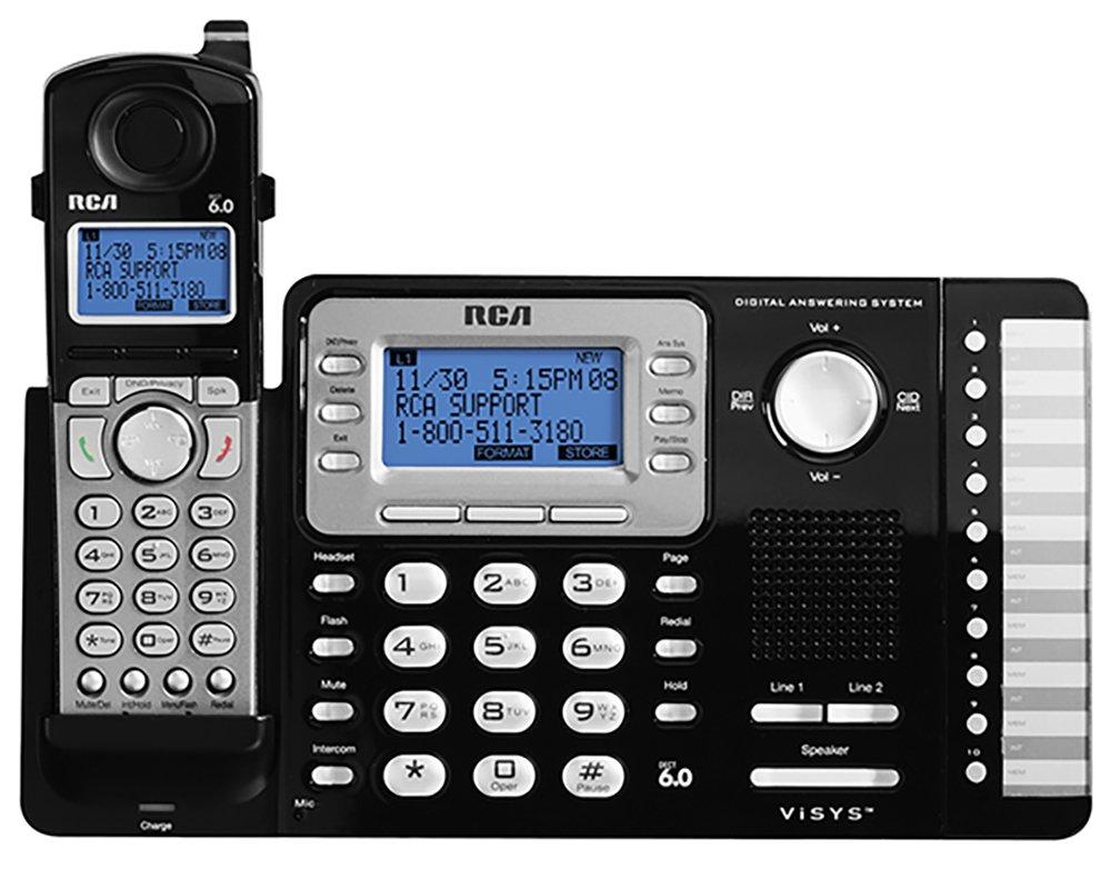 Telefonos-fijos RCA, RCA RCA 25252 Dect_6.0 1 teléfono 2 teléfono fijo línea telefónica teléfonos inalámbricos  en Veo y Compro