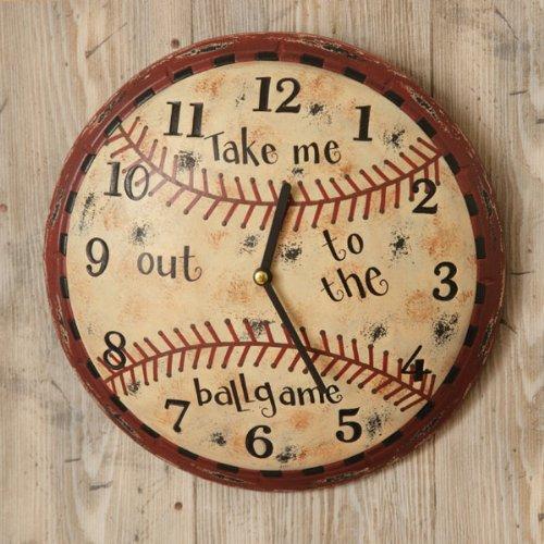 Kids Wall Clock - Baseball,