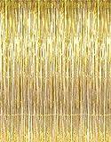 1 X 3' x 8' Gold Tinsel Foil Fringe Door Window Curtain Party Decoration