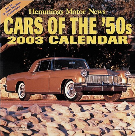 2003 Cars of the '50s Calendars