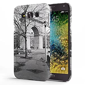 Koveru Designer Printed Protective Snap-On Durable Plastic Back Shell Case Cover for Samsung Galaxy E7 - Monument