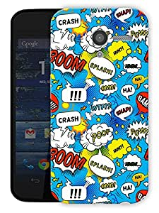 "Cartoon Comic Pattern Printed Designer Mobile Back Cover For ""Motorola Moto X"" By Humor Gang (3D, Matte Finish, Premium Quality, Protective Snap On Slim Hard Phone Case, Multi Color)"