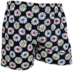 Shy Guy Pleasure Wear Men's Cotton Boxer Shorts (Dark Blue)