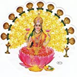 HINDU GODDESS LAXMIJI DOUBLE SIDED CAR WINDOW STICKER - DS 0049