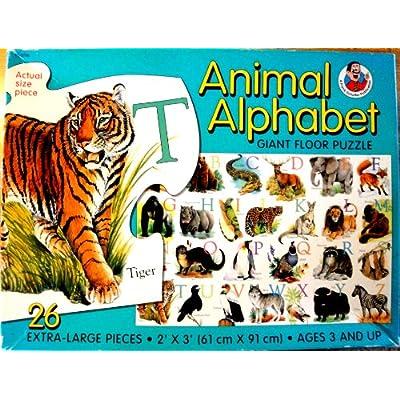 Amazon.com: Animal Alphabet Giant Floor Puzzle