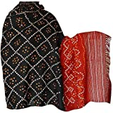 Womens Shawls Wraps Tie & Dye in Wool Fabric Winter Fashion 203 x 88 Cmby ShalinIndia