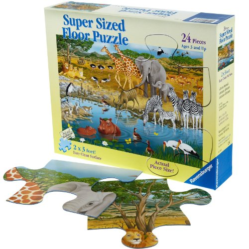 Cheap Fun Ravensburger African Animals Super Sized Floor Puzzle (24 pc) — (B005H7BAT6)