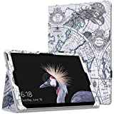"MoKo Microsoft Surface Pro 4 Case - Slim Folding Cover Case For Microsoft Surface Pro 4 12.3"" / Surface Pro 3 12"" Tablet, Map F"