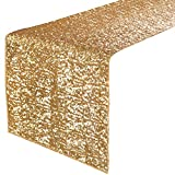 "Pony Dance Glitter Party//Holiday/Wedding/Banquet Decorative Sparkling Sequins Table Runner,14""x108"",Gold"