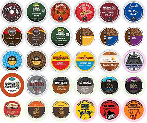 30-count K-cup for Keurig Brewers All REGULAR Coffee Variety Pack Featuring Tim Horton's, Green Mountain, Coffee People, Newman's Organic, Emerils, Guy Fieri, Marley Coffee, Tully's & More (Keurig Coffee Regular compare prices)