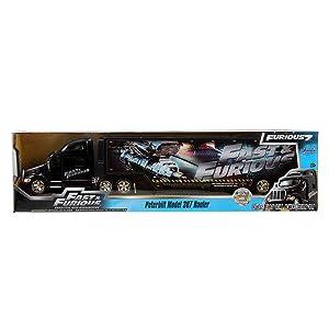 Jada Toys Fast & Furious 1:64 Diecast Hauler  Peterbilt 387 Hauler  G, Black