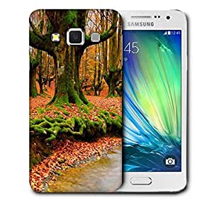 Snoogg Orange Leaves Printed Protective Phone Back Case Cover For Samsung Galaxy A3