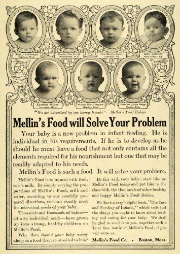 1911 Ad Mellins Food Baby Ralph Falkenhagen Leftwich Blaylock Katherine Bange - Original Print Ad front-1017001