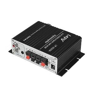 Lepy Amplifiers Audio Component Amplifier, Black (LP-2020A Class-D) (Color: Black, Tamaño: 5.7 x 4.7 x 1.6 inches)