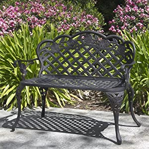 Amazon Best Choice Products Patio Garden Bench Cast