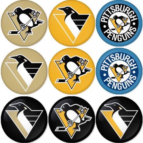 Pittsburgh Penguins NHL Hockey round badges 1.75