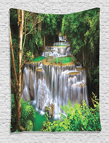 ambesonne-waterfall-decor-collection-stunning-view-of-waterfall-in-kanjanaburi-stream-crossing-fores