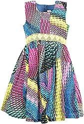 Euphoria Girls' Dress (SKU283F, Multi-Coloured, 4-5 Years)