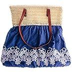 Blue Strawtop Bag