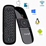 Newest Air Mouse with Keyboard 2.4Ghz Wireless Motion Smart TV Remote Controller Android TV Box Mini Keyboard for Android TV Boxes, PCs, Laptops, Projectors and Smart TVs (Color: 57B)