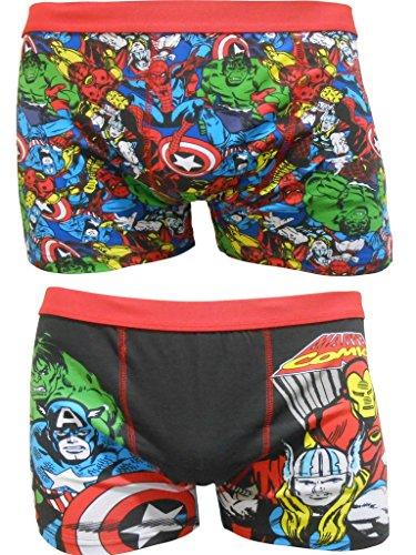 Marvel Comics Mens Boxer in confezione da due - S