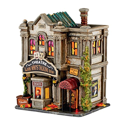 Dept 56 Halloween Village 4051010 Look Who Talking Now Theatre New 2016 (Halloween Looks)