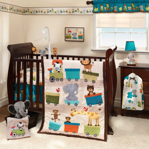 Bedtime Originals 3 Piece Crib Bedding Set, Choo Choo image