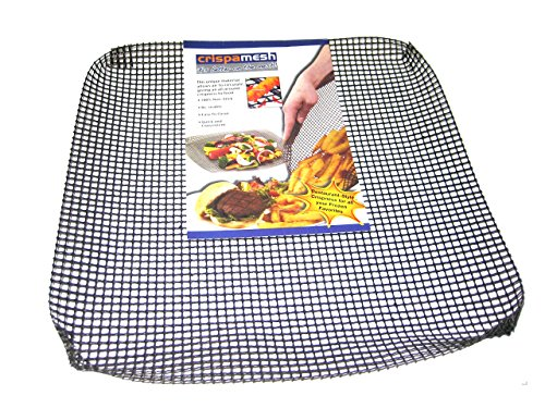 Planit products USA Crispamesh 14.7 Inch Square, Reusable Non Stick Oven Crisping Mesh For Frozen/Unfrozen Food