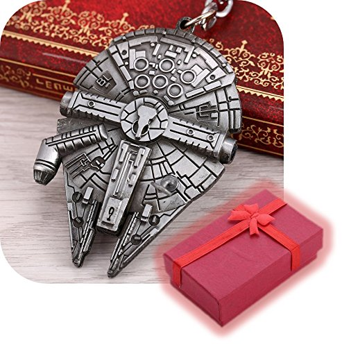Nido del Bimbo 1000577 - [MILLENIUM FALCON SILVER] Portachiavi Marvel The Avengers Dc Comics Justice League of America Star Wars Film Videogiochi Cartoni Animati Supereroi Fumetti Manga Villians Cattivi Buoni