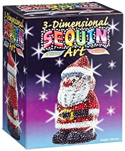 KSG 3D Sequin Art Santa Claus