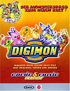 Digimon Comic und Music Maker. CD- ROM für Windows 95/98/2000/ ME/ NT