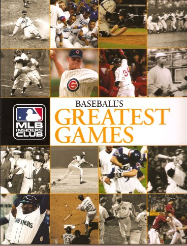 baseball's greatest games mlb insiders club