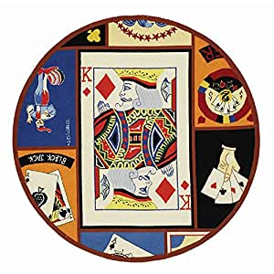 Round poker rug
