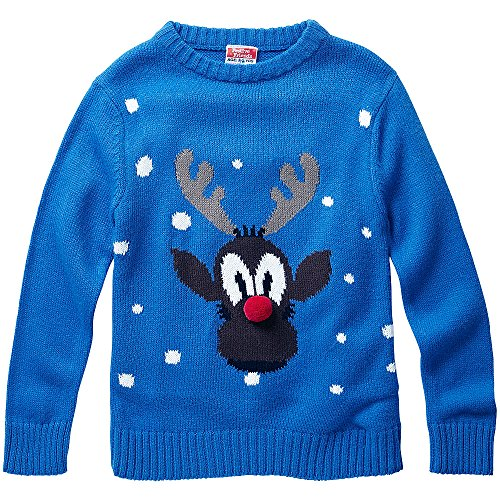 Baby-Toddler-Younger-Boys-Rudolph-Red-Nose-Reindeer-Character-Christmas-Novelty-Knitted-Jumper