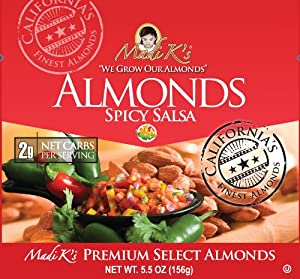 Madi Ks Spicy Salsa Almonds 55-ounce Pouches Pack Of 12 from Madi K's