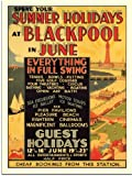 Blackpool, Seaside Travel Poster (30x40cm Art Print)