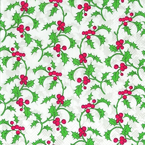 vintage-holly-white-christmas-luxury-paper-napkins-new-20-in-pack-christmas