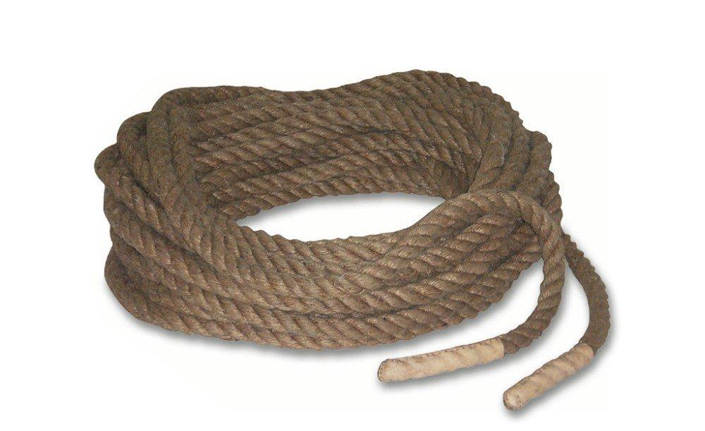 Stabiles Tauziehseil aus Sisal, 36 Meter Länge und 32 Millimeter Stärke online bestellen