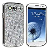 Silver Luxury Bling Glitter Coated Case Cover for Samsung Galaxy S3 III I9300