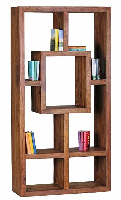 Wohnling Design Sheesham massiccio Scaffale 180x 90x 35cm in legno massiccio