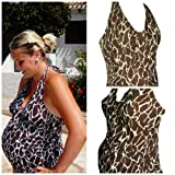 Maternity Swimsuit Tankini Animal Print (10)