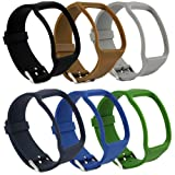 Sunmitech Replacement Bands for Samsung Galaxy Gear S SM-R750 Smart Watch, Soft TPU, Classic Watch Band Style with Metal Buckle (Color: 6 colors)